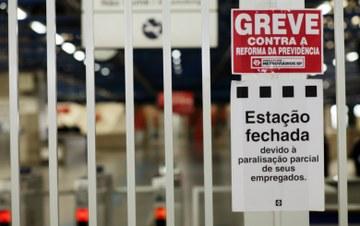 Greve geral terá forte adesão no transporte coletivo na Grande SP