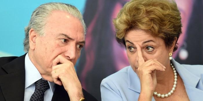 """""""Oi, querido"""": O reencontro de Dilma e Temer no banco os réus"""