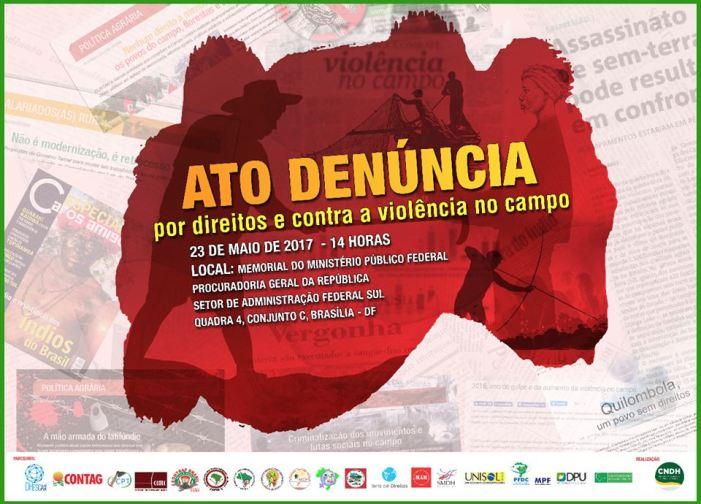 Ato será realizado hoje: Por direitos e contra a violência no campo