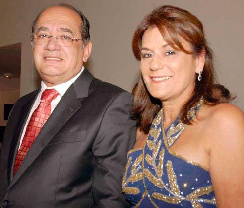 Eike Batista e a esposa de Gilmar Mendes