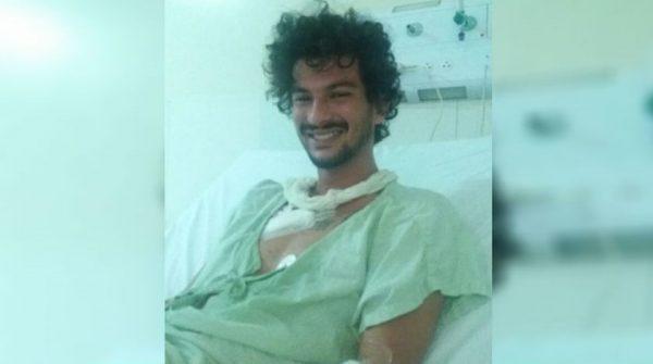 Bomba foi jogada por PMs, diz jovem catarinense que perdeu dedos em manifestação