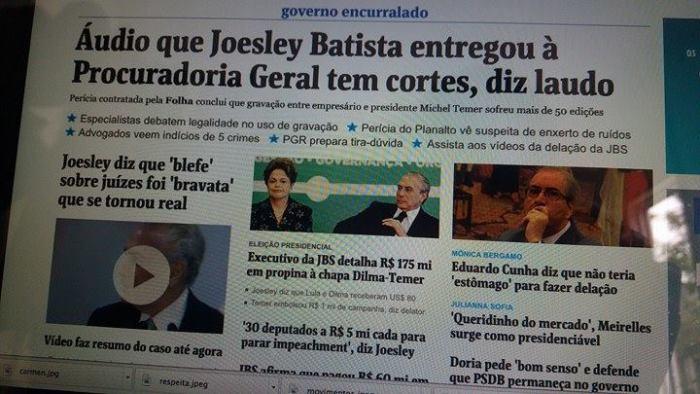 Folha de S.Paulo sai em defesa de Michel Temer