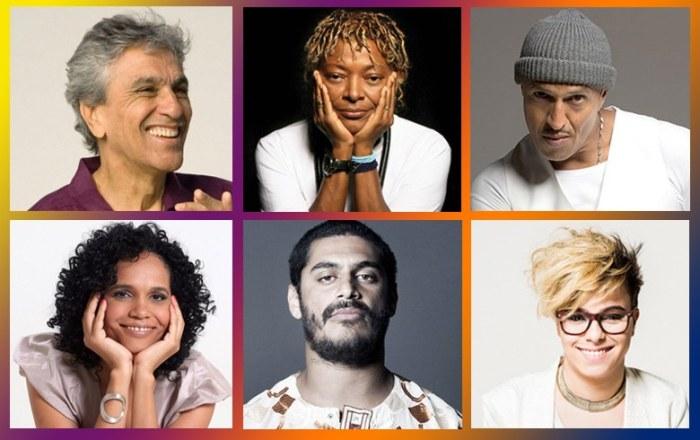 Caetano, Mano Brown, Criolo e outros artistas se apresentam em ato no Rio por diretas já