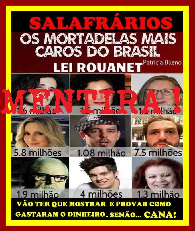 CPI da Lei Rouanet: NENHUM artista de esquerda é indiciado
