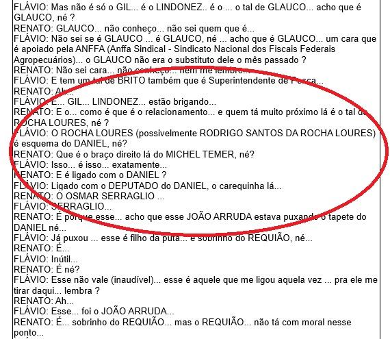 Diálogo da Operação Carne Fraca une Temer, Rocha Loures e Serraglio