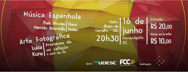 'Floripa Música & Arte' estreia na capital ao som de música espanhola