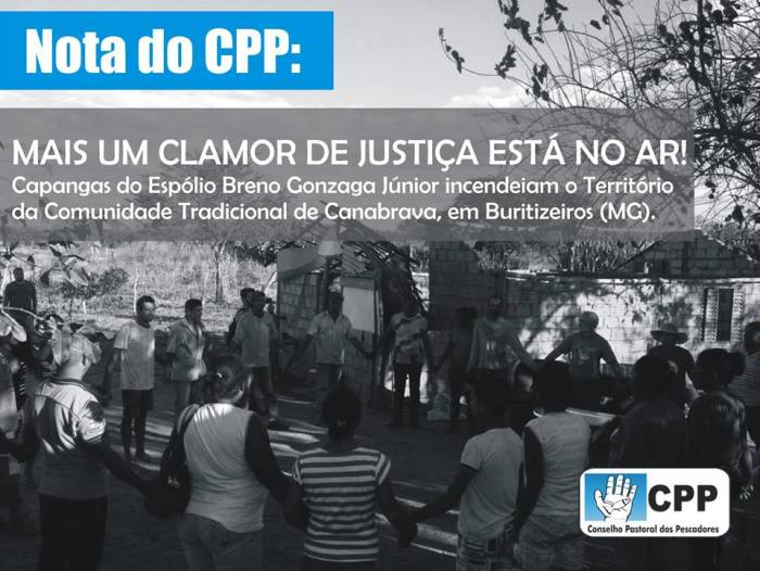 Capangas incendeiam território da comunidade tradicional de Canabrava, em Minas Gerais