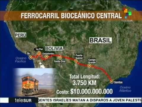 Mercosul aprova trem bioceânico proposto pela Bolívia
