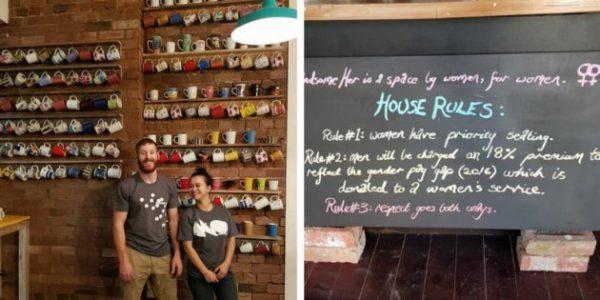 Um café na Austrália cobra 18% a mais de homens para compensar salário mais baixo para mulheres