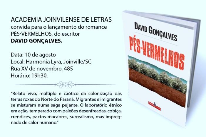 Convite: Lançamento romance Pés-Vermelhos, em Joinville