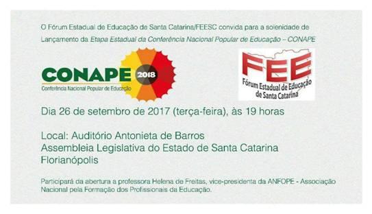 Carta-Manifesto do Fórum Estadual de Educaçâo de Santa Catarina