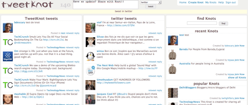 tweetknot Groupes de discussions + Twitter = TweetKnot