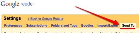 settings send to Comment utiliser Google Reader comme outil de bookmarking social et bloc notes