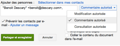 google documents commentaire autorise 2 Google Documents : partagez vos documents en autorisant uniquement les commentaires