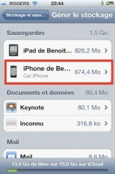 gestion stockage icloud iCloud iPhone   iPad: comment grer efficacement les 5 Gigas despace gratuit 