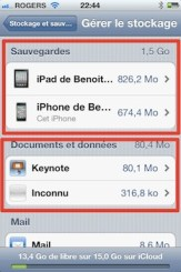 icloud stockage iCloud iPhone   iPad: comment grer efficacement les 5 Gigas despace gratuit 