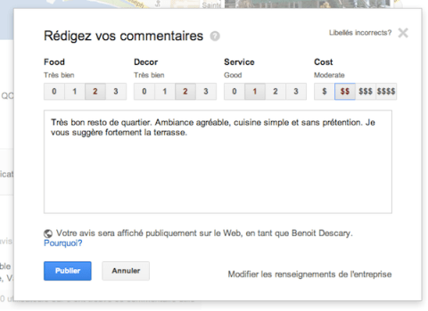 google plus local avis Google+ Local: le guide des commerces de proximit de Google