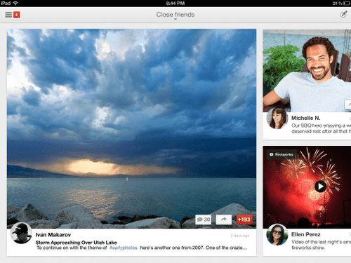 01b ipad stream landscape large box Google+ pour iPad : une super application de visioconférence