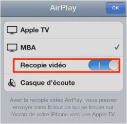 reflection airplay iphone ipad iPhone   iPad: comment afficher votre appareil sur l'écran d'un Mac ou PC