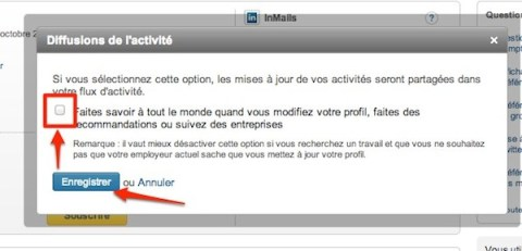  Linkedin: comment activer et dsactiver la diffusion de vos activits
