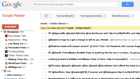 google reader Utilisez Google Reader pour archiver vos tweets