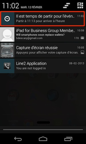 google now android descary notifications Google Now ou l'ébauche d'un système de notification contextuel