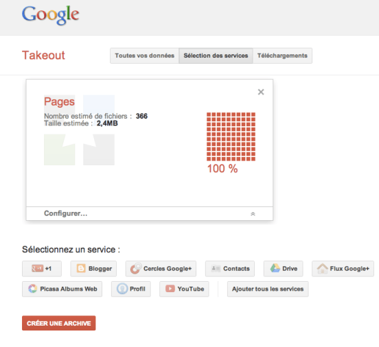 google takeout google plus exporter donnees descary  Google Takeout vous permet d'exporter vos Pages d'entreprises Google+