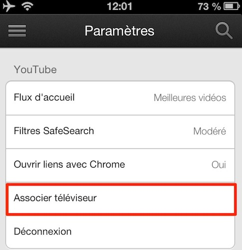 xbox 360 youtube associer iphone 1 iPad   iPhone: Comment utiliser Sent to TV, le AirPlay de Google sur votre xBox 360