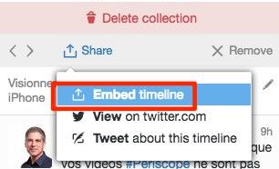 embed timeline