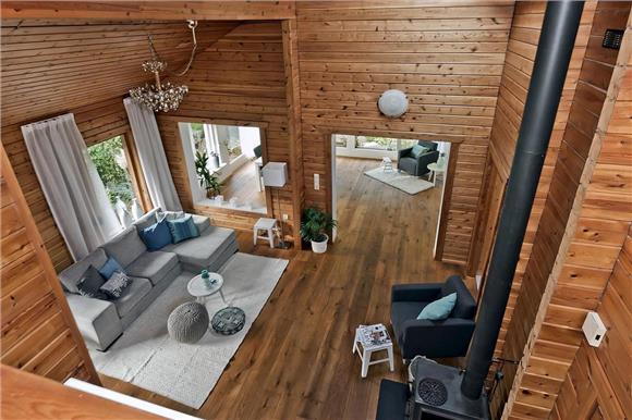 Houten woonkamer accessoires accessoires woonkamer wijnrek - Interieur eigentijds houten huis ...