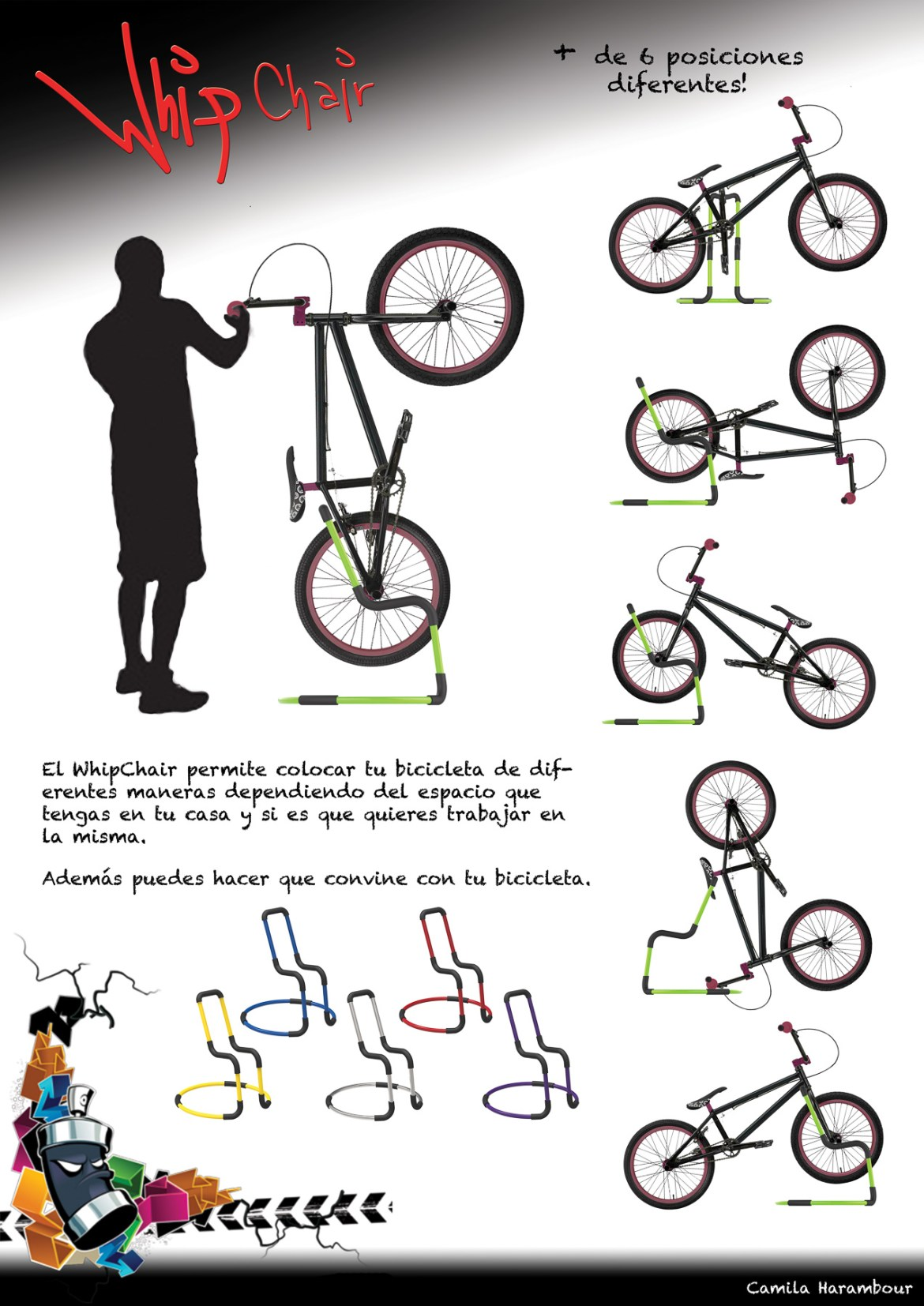posiciones bikecletero whipchair