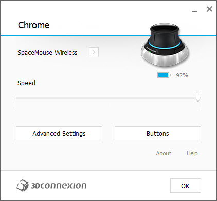 3Dconnexion 3DxWare Config