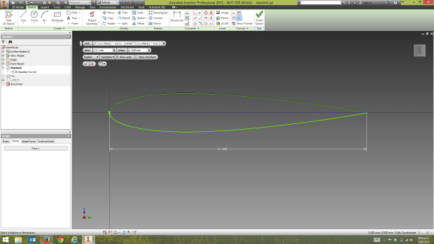 Inventor 2D Equation Curve