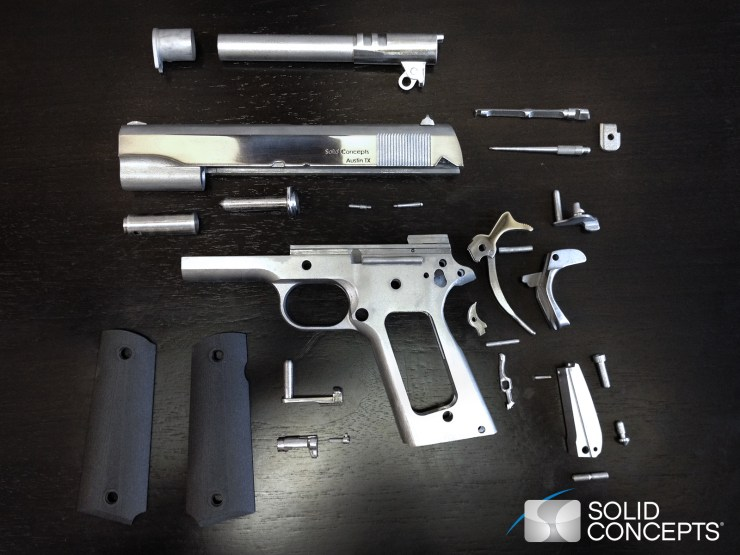 Solid Concepts 3D Printed Metal 1911 Gun Components