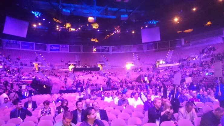 People taking their seats for the AU2014 Keynote