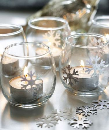 Glass votives, lit tealights W&H 12/2011 pub orig