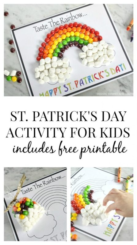 St. Patrick's Day Activity For Kids including free printable