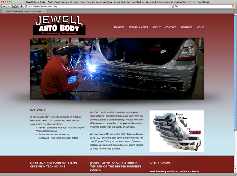 Jewel Auto Body   design done well This