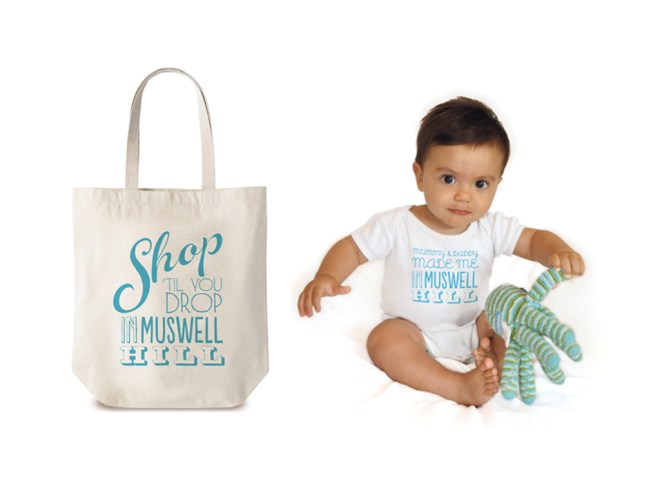 IN MUSWELL HILL BAG AND BABY GROW, Designed By Good People.