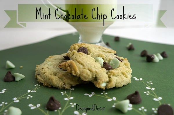 Mint Chocolate Chip Cookies 6