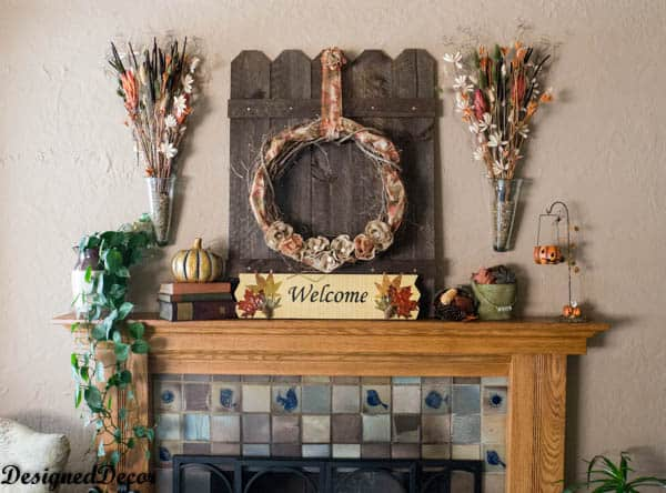 Decorating the Mantel for Fall