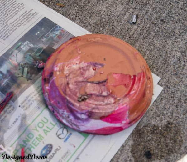using nail polish to paint