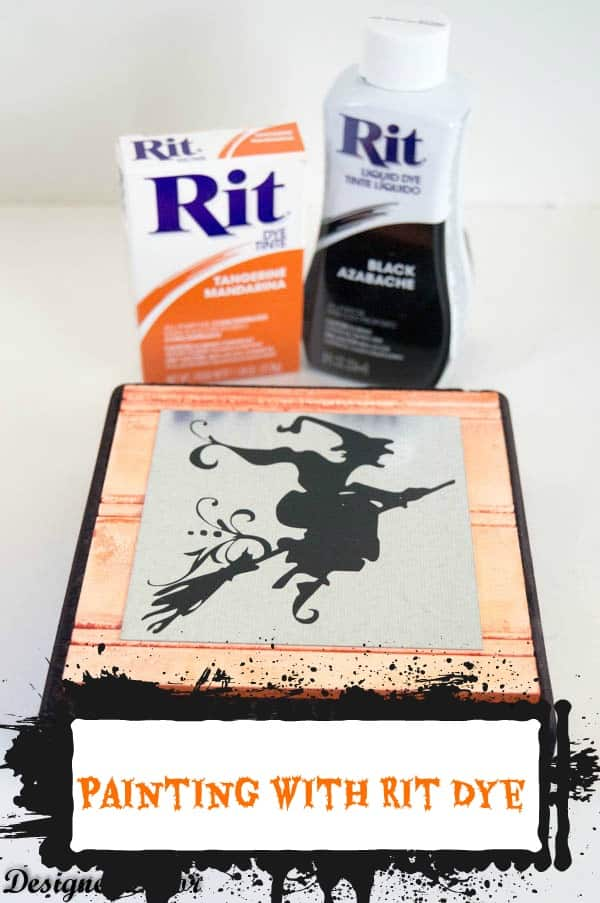 Painting a Decorative Block with Rit Dye