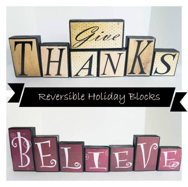 reversible holiday blocks - pinnable