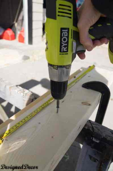 Ryobi compact drill to build a Mantle Shelf-