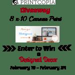 printcopia 8x10 canvas print giveaway