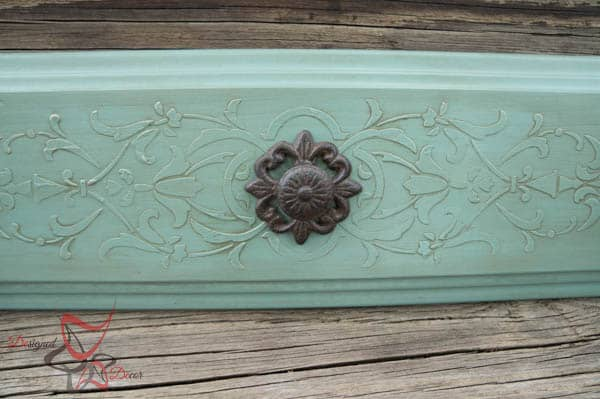 Repurposed Drawer Fronts - Royal Design Stencils- Paint Couture