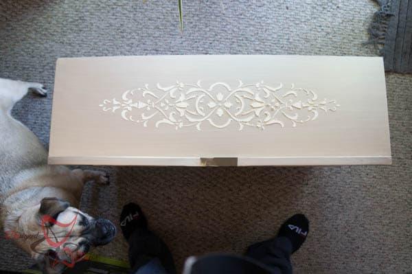 Stenciled Dresser ~ Wood Icing-