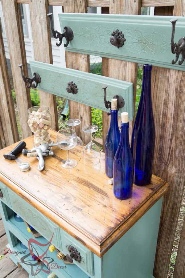 Repurposed Dresser ~ Wine Bar-12