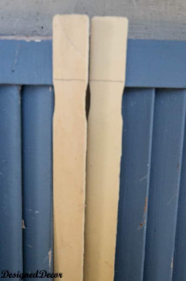 repairing a shutter with paint sticks-4